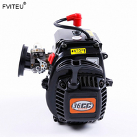 FVITEU 36CC 4 bolts Engine with Walbro1107carb and NGK spark plug for 1/5 Losi 5ive T Rovan LT/SLT Truck King Motor X2