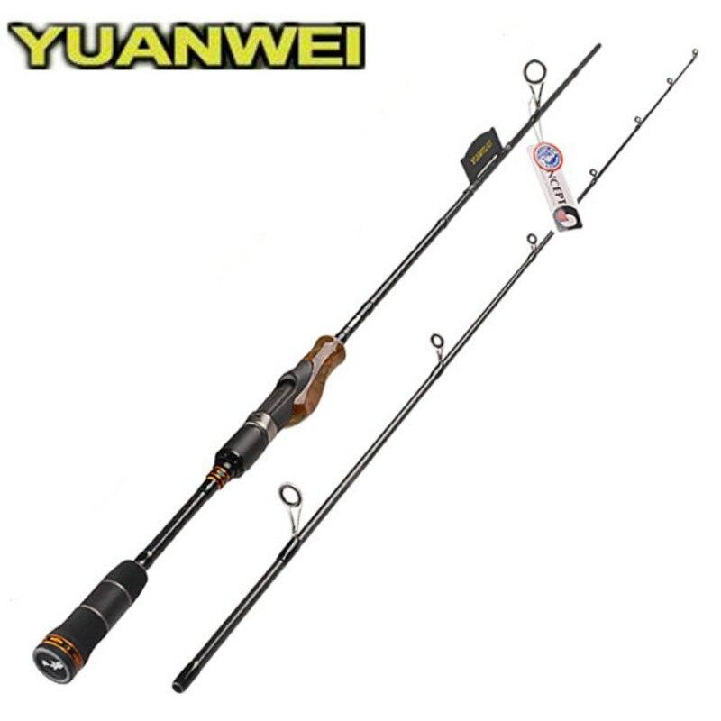 YUANWEI 1.98 M 2.1 M 2.4 M Spinning Canne À Pêche 2 section Racine de Bois Poignée M MH ML Puissance IM8 carbone De Pesca Canne A Peche Chargeur