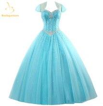 Bealegantom Blue Quinceanera Dresses 2017 Ball Gown Beaded Sweet 16 Dress Debutante Vestidos De 15 Anos QA1180