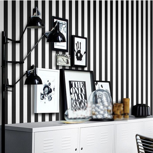 Beibehang stripe wall paper home decor background wall for Home decor 3d wallpaper