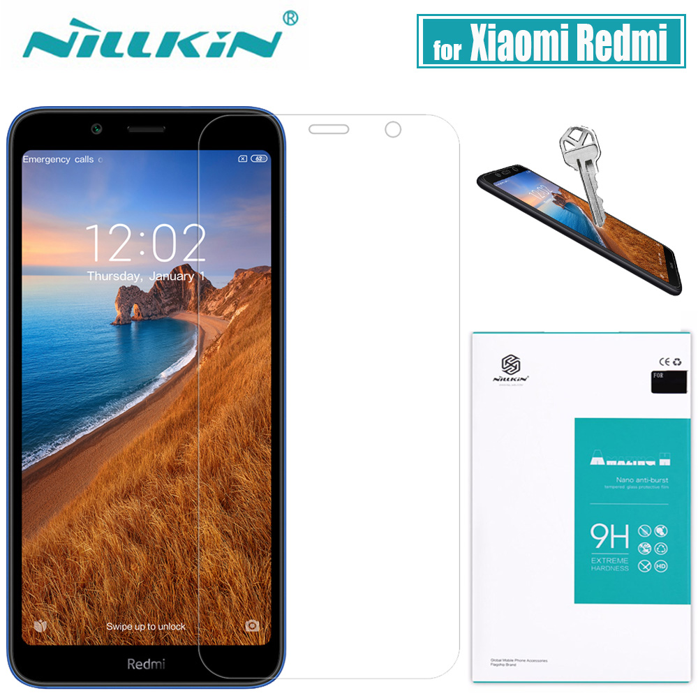 for Xiaomi Redmi 8A/8/7A/7/6A/6/5A Tempered Glass Screen Protector Nillkin 9H Clear Protective Safety Glass on Redmi 8A 8 6 Pro|amazing h|screen protector film|protector film - title=