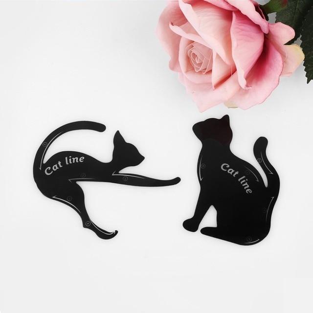 BONNIE CHOICE Cat Eye Liner Card Beauty Mold Stencils Pro Eye Makeup Tool Template Shaper Model For Eye Makeup Tool 4