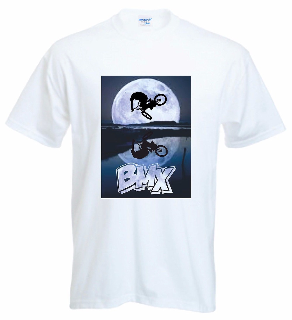New High Quality 2018 Cotton TShirt Bmx Moonscape Logo T Shirt Rac Cycler Biker Stunt Biker Freestyle Tee Shirt