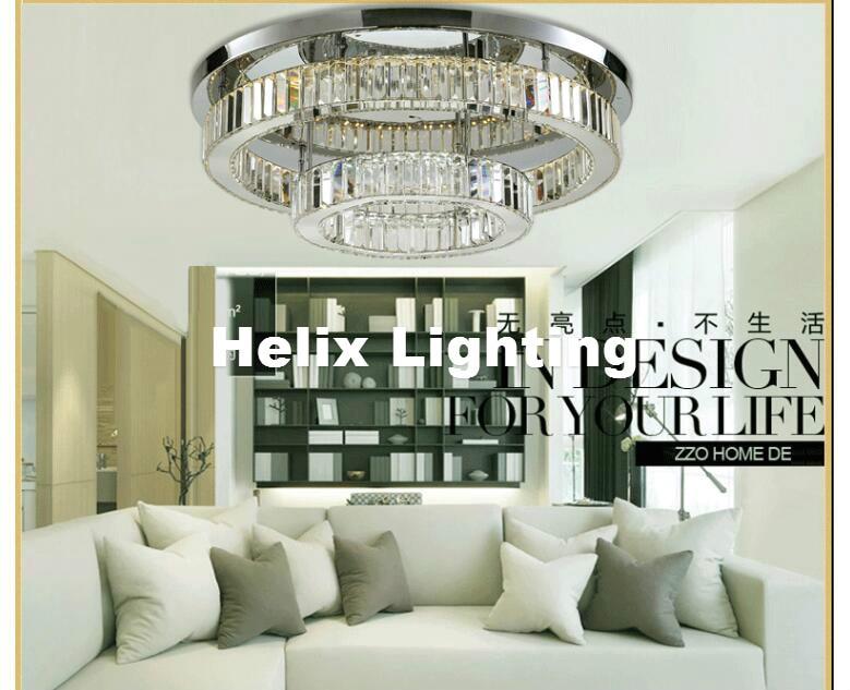 Modern Stainless Steel Crystal Ceiling Light Fixture Modern Ceiling ...
