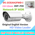 Free shipping english version Bullet Camera DS-2CD2642FWD-I, 4MP WDR Vari-focal Network IP Camera