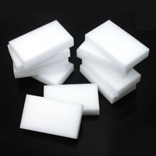 купить 10PCS Melamine Sponge Magic Sponge Eraser Melamine Cleaner Eco-Friendly White Kitchen Magic Eraser 10*6*2cm Hot Sale дешево