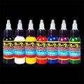 30 ml/botella de tinta del tatuaje conjunto Microblading maquillaje permanente de arte pigmento 7 UNIDS cosmética tatuaje pintura de cejas delineador de labios cuerpo