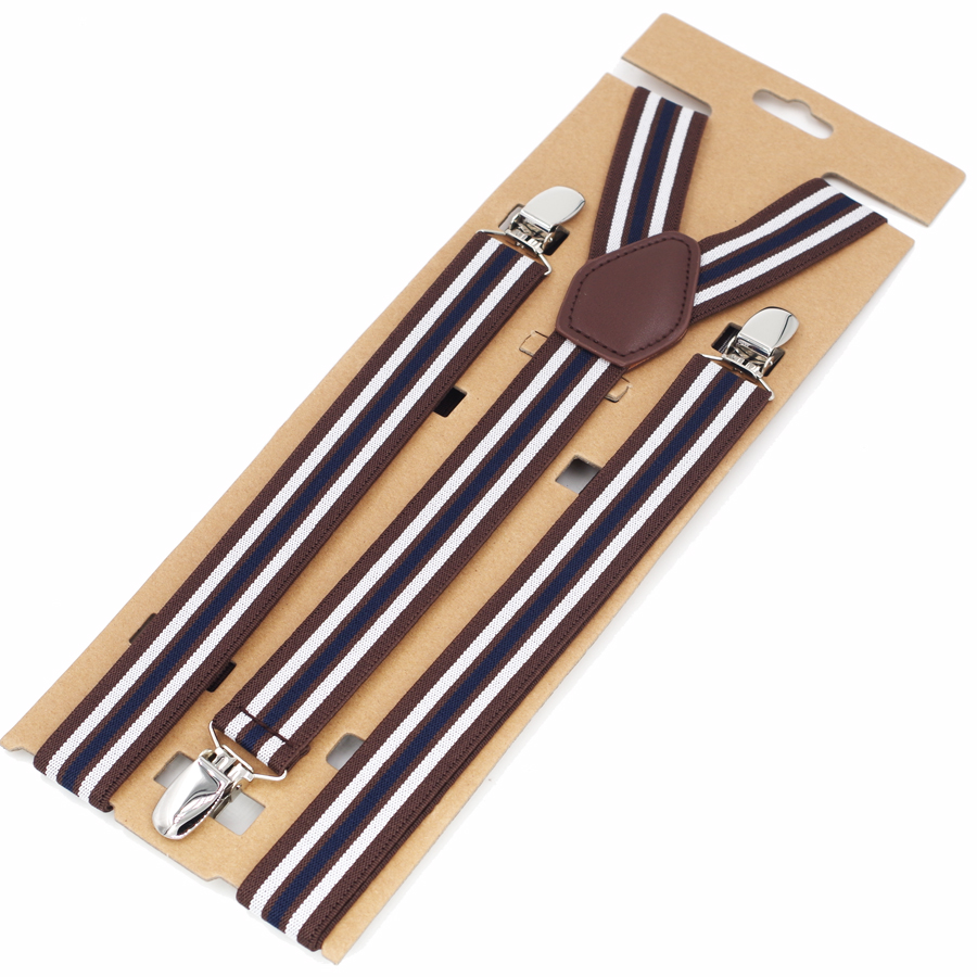 Man's Suspenders Girl's Braces Strong 3 Clips Women's Suspenders Trousers Suspensorio Elastic Strap Size 2.5*115cm