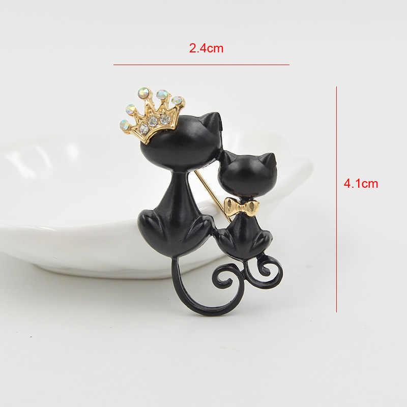 CINDY XIANG черная кошка Броши для женщин эмалированная брошь с животным булавкой модные ювелирные изделия специальные аксессуары милое пальто брошь в виде мешочка подарок