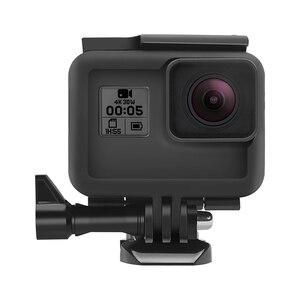 Image 4 - לירות מגן מסגרת מקרה הר עבור GoPro גיבור 7 6 5 שחור מצלמה מגן גבול עבור ללכת פרו 6 5 פעולה מצלמה אבזר