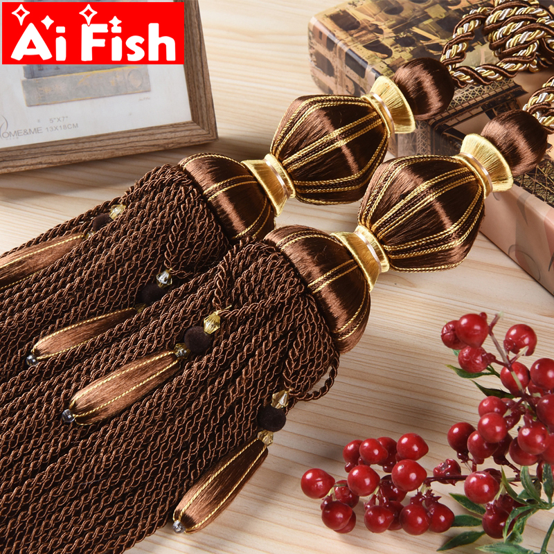 Tassels Curtain Hanging Ball Elegant Curtain Strap Tied Rope Curtain Accessories Buckle Continental Curtains For Clips Cp074#30