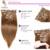 Recto sedoso Brasileño Clip en Extensiones Del Pelo Humano, 100% Extensión Del Pelo Virgen, 7-10 Unids/set luz marrón #8 Clip ins 120G