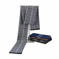 Winter Warm Head Crochet Scarfs Cashmere Pashmina Knitted Plaid Men Wrap Scarf Cotton Man Shawls And