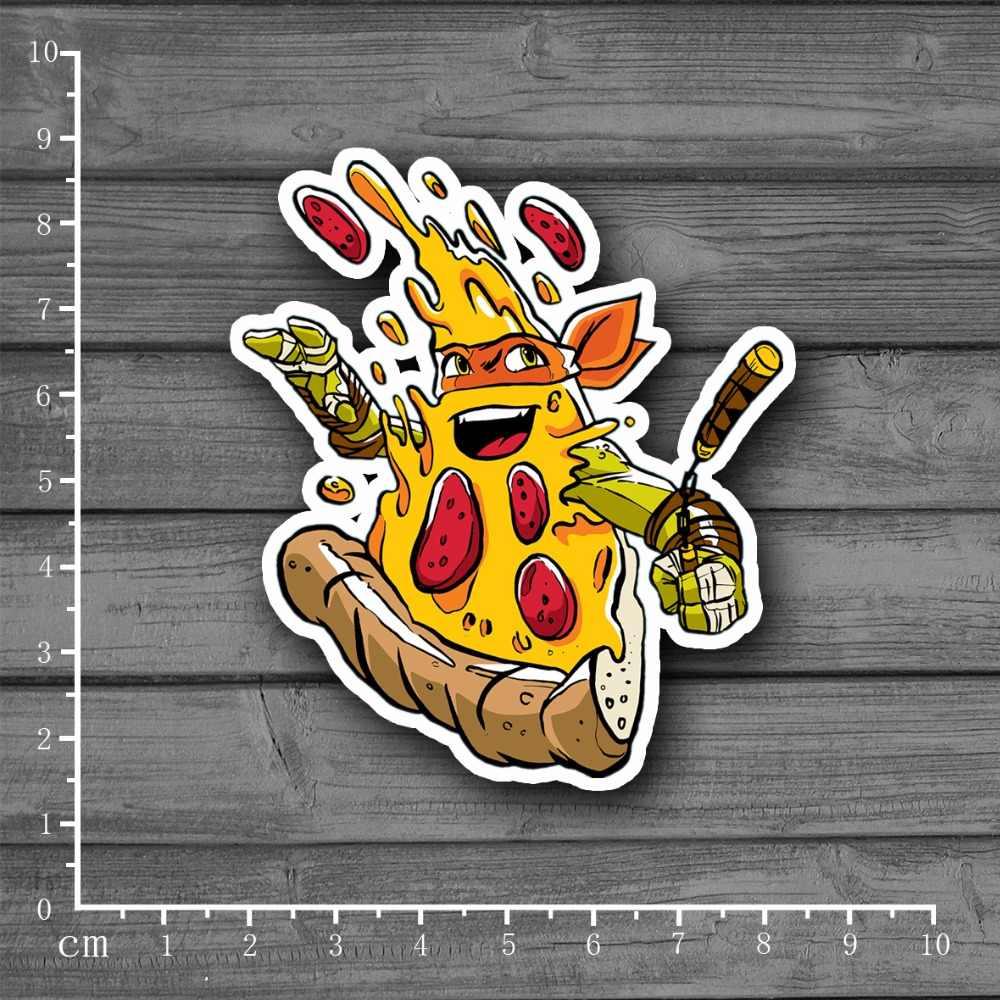 Cartoon Fit Pizza, Donuts Waterdichte PVC Laptop Notebook Huid Sticker Auto Styling Sticker Voor kid Speelgoed Koffer Stickers [single]