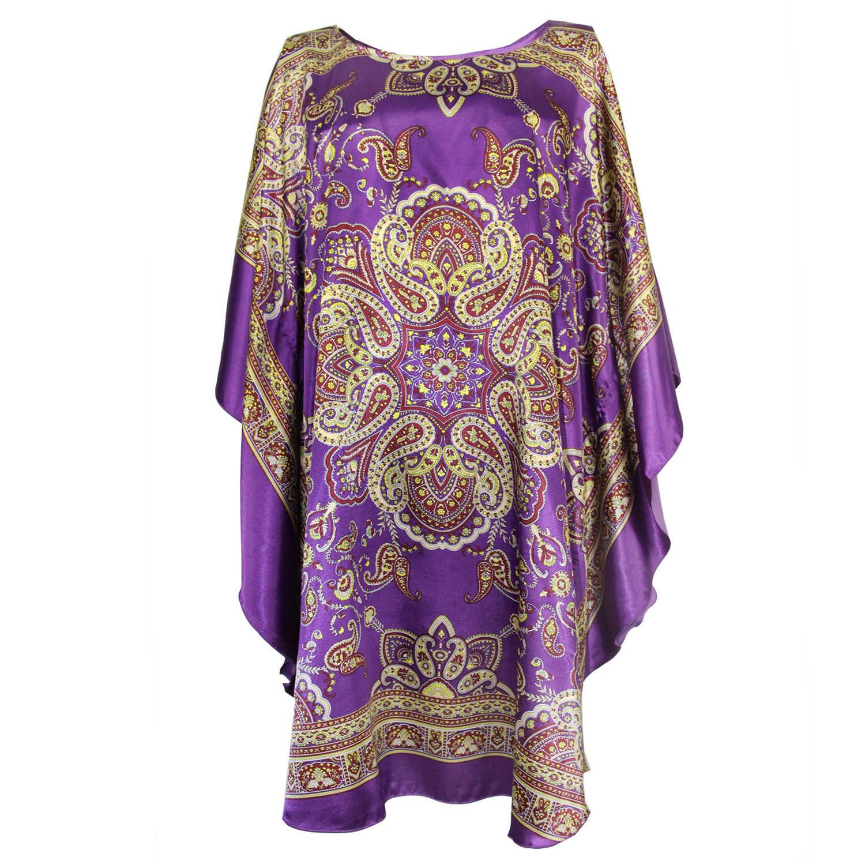 5a1c40414656 Wanita Tidur Gaun Gaya Cina Rayon Baju Tidur Musim Panas Kasual Baju Tidur  Cetak Floral Home