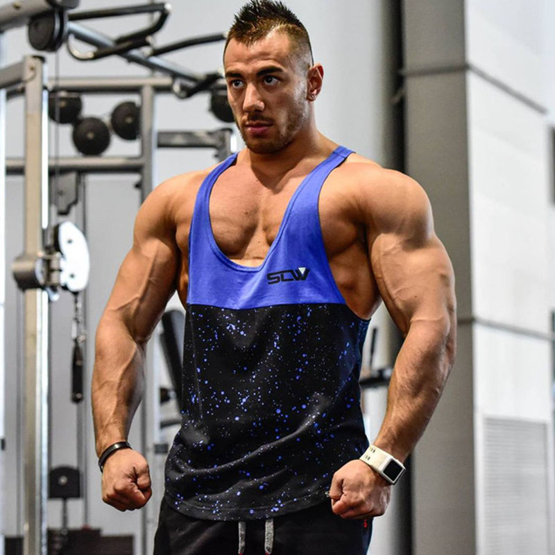 Men Bodybuilding   Tank     Tops   Man Gyms Workout Fitness Sleeveless shirt Male Cotton Clothing Casual Fashion Singlet Vest Undershirt