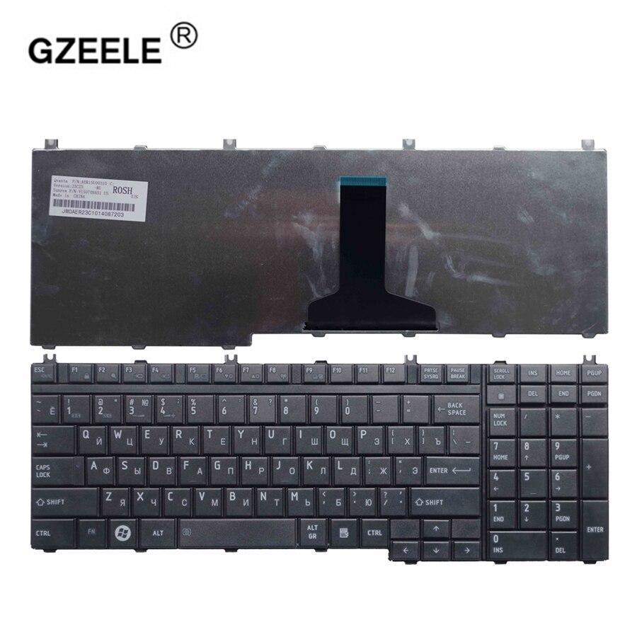 GZEELE russe Clavier d'ordinateur portable pour TOSHIBA Satellite P300 P305 P305D L350D L355 L355D P500 P505D L505 L505D L550 L550D L555 RU