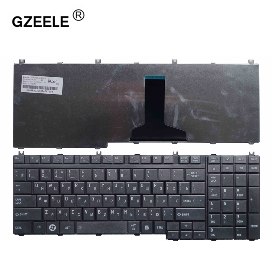 GZEELE Russian Laptop Keyboard For TOSHIBA Satellite P300 P305 P305D L350D L355 L355D P500 P505D L505 L505D L550 L550D L555 RU