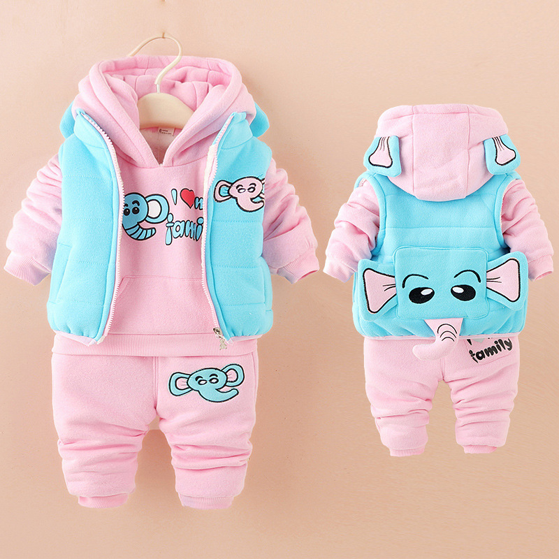 2018 winter baby clothes sets thick Keep warm fashion cotton Dinosaur boy girl Plus thick velvet 3PCS kid clothes suits clothing2018 winter baby clothes sets thick Keep warm fashion cotton Dinosaur boy girl Plus thick velvet 3PCS kid clothes suits clothing