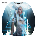 New man women Cartoon Angel Digital hoody 3D galaxy sweatshirt hoodie high street hip hop outdoors sweat autumn pullover