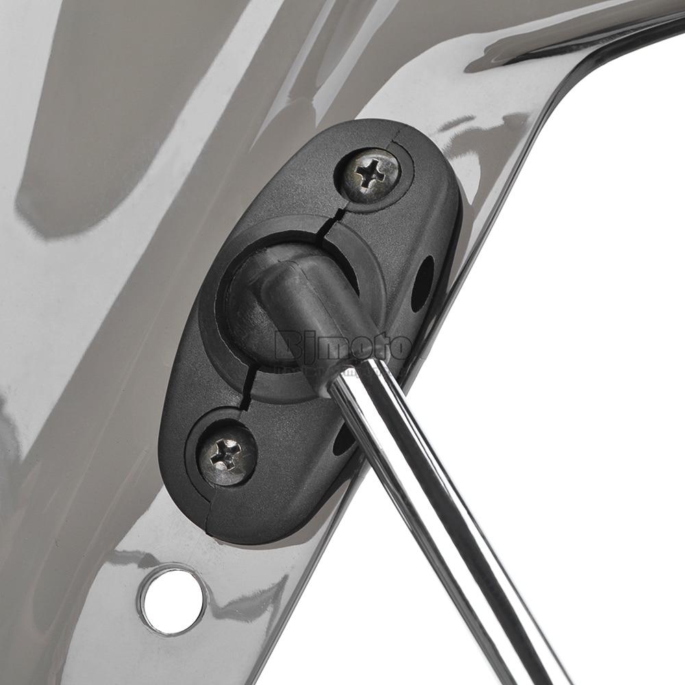 Universal Motorcycle Windshield Street Bike Windscreen For 22mm 25mm 28mm Handlebar Motorbikes (8)