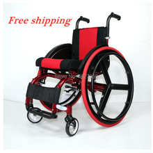 Disabled person sports wheelchair portable aluminum folding manual wheelchair