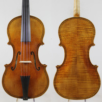 Baroque Violin,Giovanni Paolo Maggini 4/4 Violin Copy!Old Spruce Antiqued oil vamish.Free Shipping!European wood!