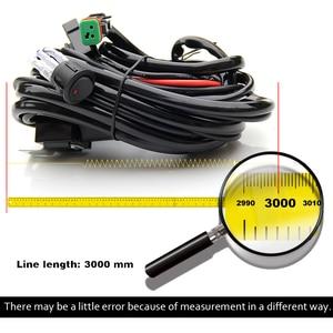 Image 5 - 共同ライトヘビー Led ライトバー配線ハーネスキット 3 メートル防水スイッチ 18AWG ため自動車運転オフロード Led ワークランプ