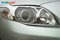 For Toyota Corolla 2010 2011 ABS Chrome Front Headlight head lights Lamp Cover Hood Protective Trim Auto Accessories 2pcs