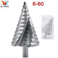 Cone buraco abridor cortador passo broca bit hss 6-60mm de aço metal buraco cortador bits uso da ferramenta elétrica