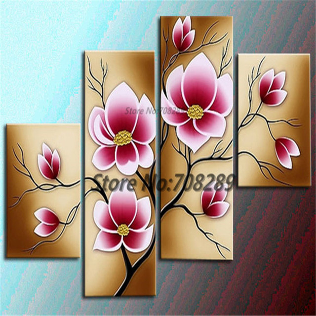 2014 The Latest Static Flowers Home Decoration Paintings Wholesale Cheap Abstract Modernist Wall Art Oil