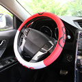 The sixth generation of fashion women car steering wheel cover women cute cartoon car accessories