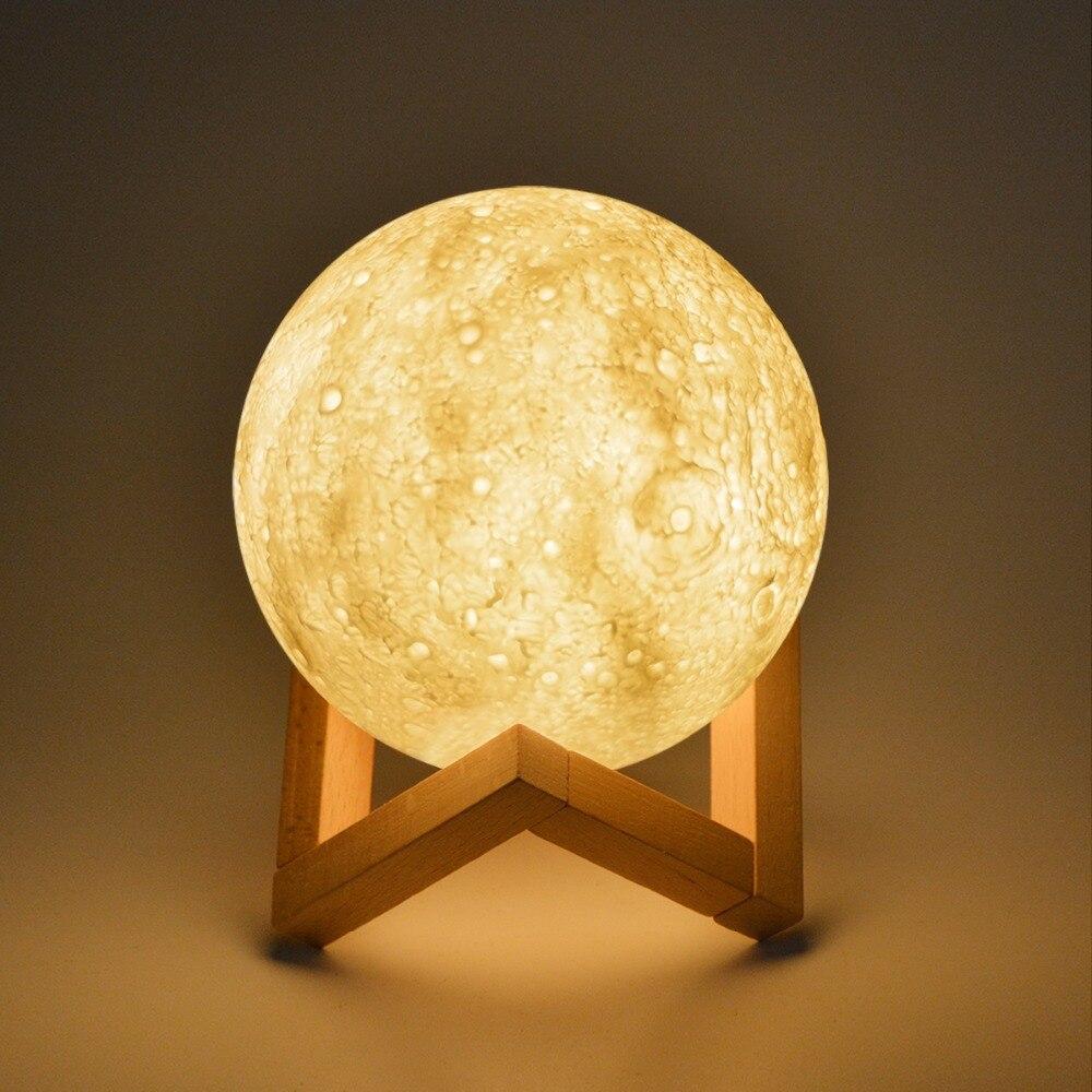 Aliexpress Com Buy Moon Led Night Light 3d Print