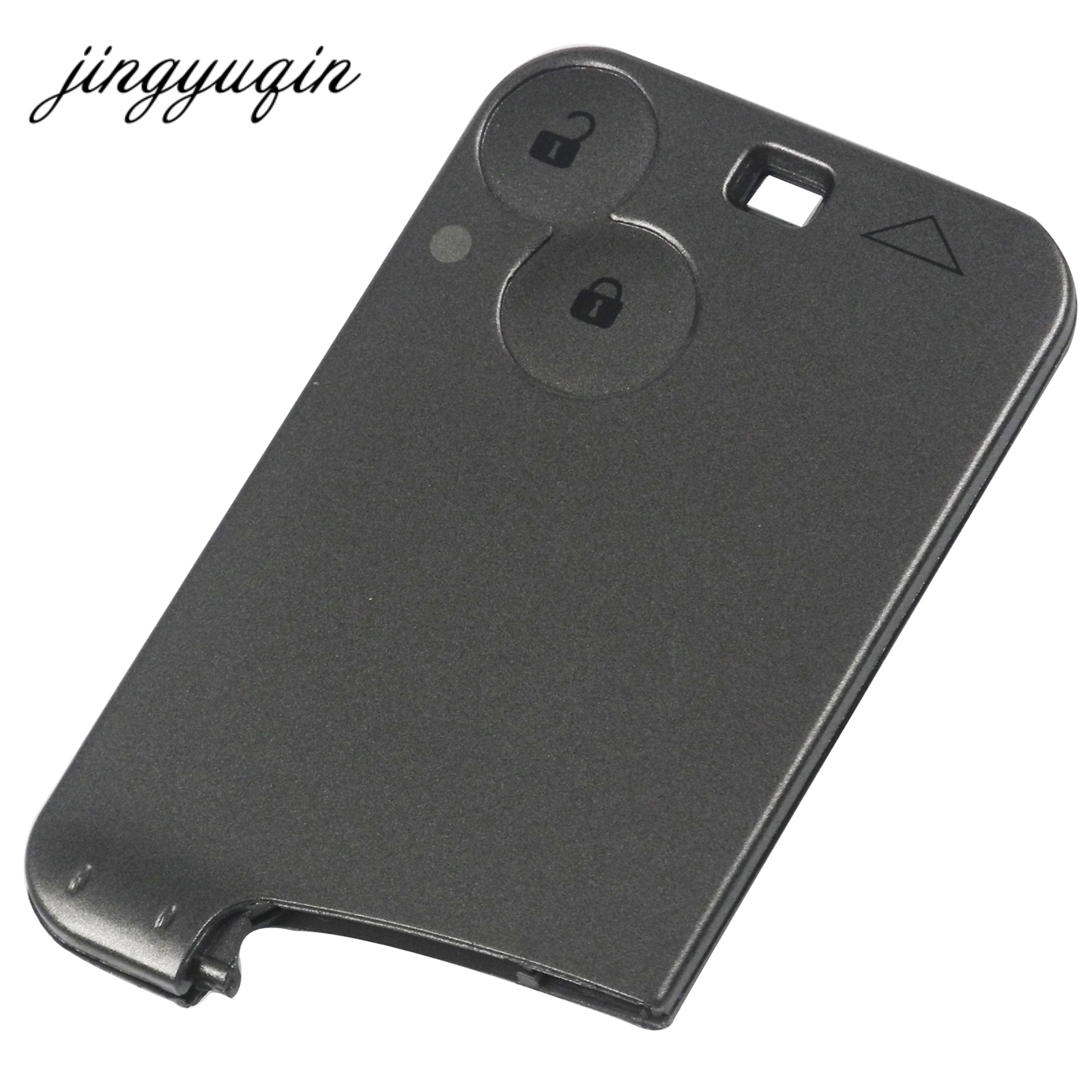Jingyuqin Replacement Key Card Case For Renault Laguna Key Fob Shell 2 Button Without Blade