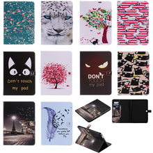 Luxury Horse Print Leather Magnetic Flip Wallet Tablet Case Cover Coque Funda For Samsung Galaxy Tab 4 10.1