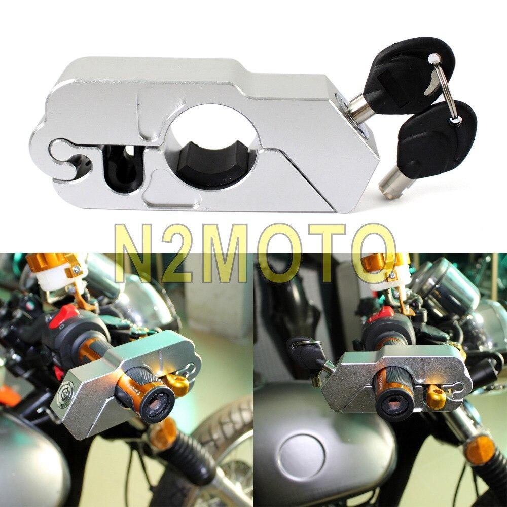 CNC Aluminum ATV Scooter Sport Dirt Street Bike Brake Lock Security Grip Lock For Honda Yamaha Suzuki Universal