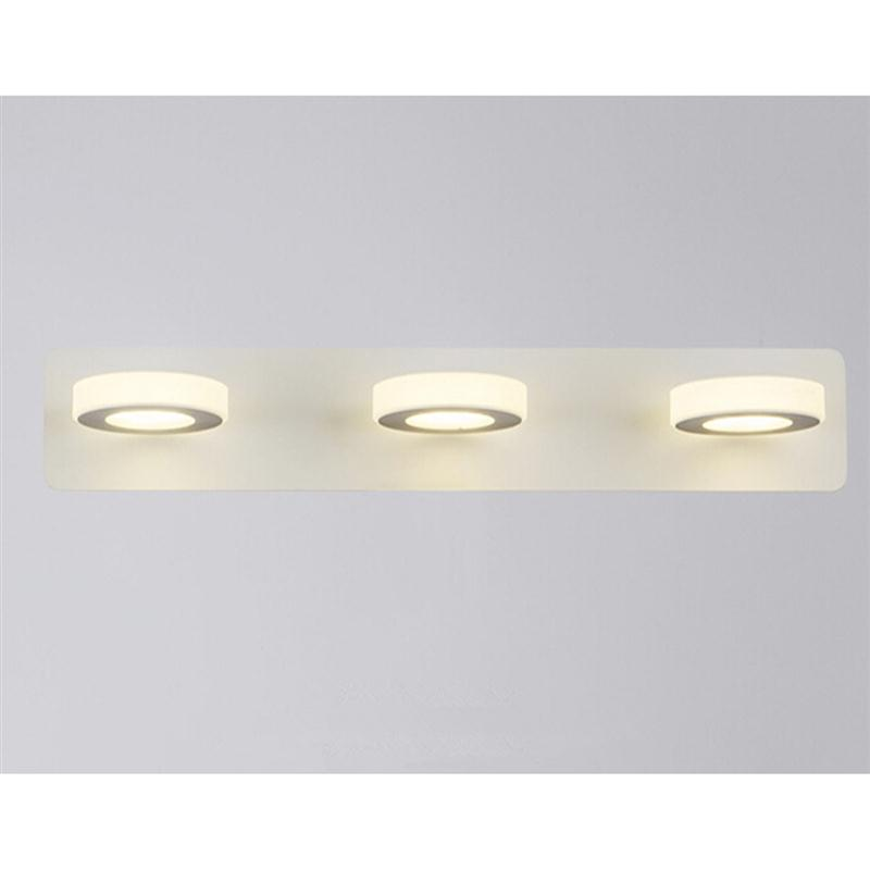 ФОТО Bathroom Light Fixtures Led 15W Acrylic Round Bath Wall Sconces Light Modern Cosmetic Acrylic Wall Lamp Bathroom Lighting