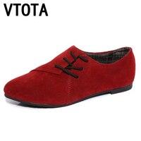 VTOTA Vrouwen Platte Schoenen zapato mujer comfortabele Schoenen Oxford Schoenen 2017 Vrouwen Nubuck Leer Lace-Up Platte Casual schoenen 745