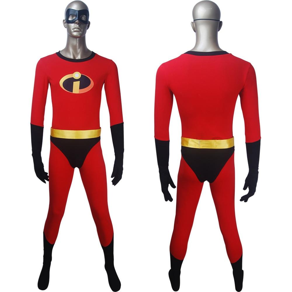 Men's Incredibles 2 jumpsuit cosplay superhero Halloween costume X'mas birthday Valentine's gift comic-con anime film