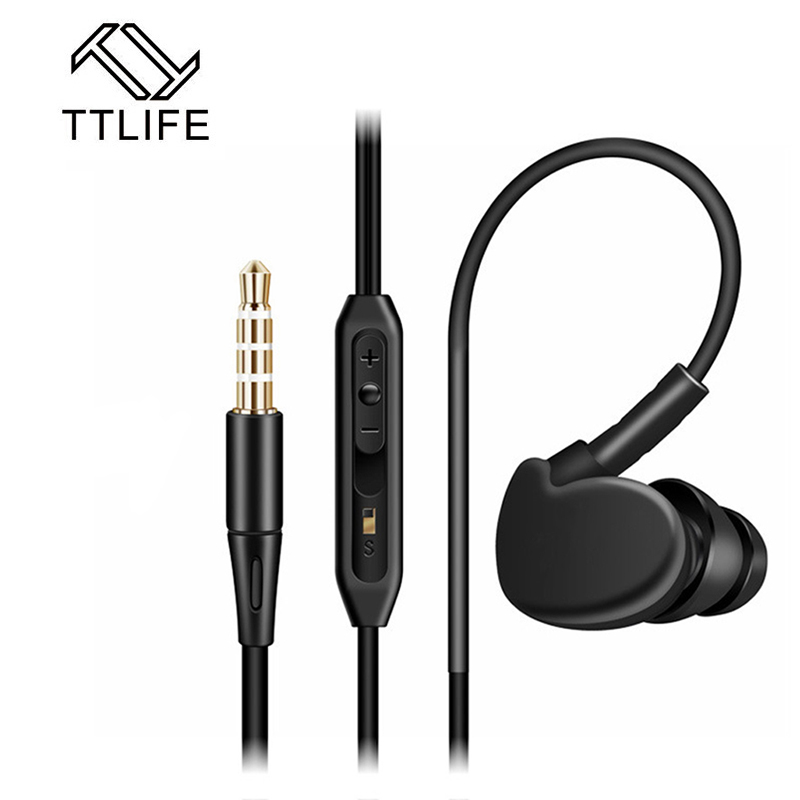 TTLIFE Running Music Earpiece Stereo Bass Earbuds New Sports Waterproof Earphones With Microphone For phone 7 Smartphones Mp3