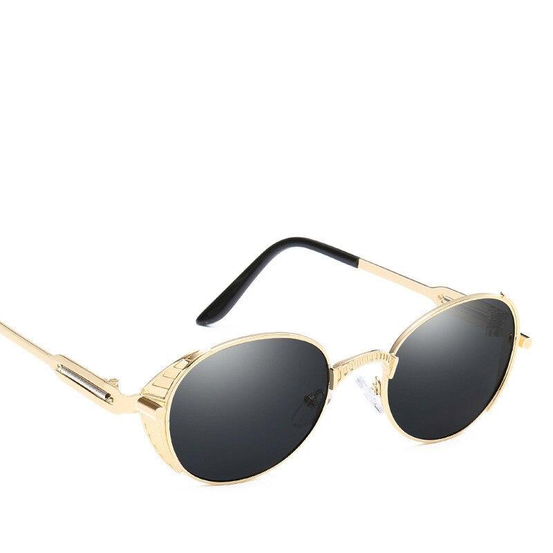 2018 Unisex Alloy Sunglasses Men Round Sunglass Steampunk Coating Mirror sun Glasses for Vintage Retro Oculos de sol UV400