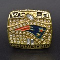 Wholesale 2001 Super Bowl New England Patriots Zinc Alloy Gold plated Custom Sports Replica World Championship Ring for Fans