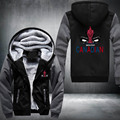 New Winter Jackets and Coats Kuso Deadpool hoodie Anime Suicide Squad Hoodie Thick Zipper Men Sweatshirts