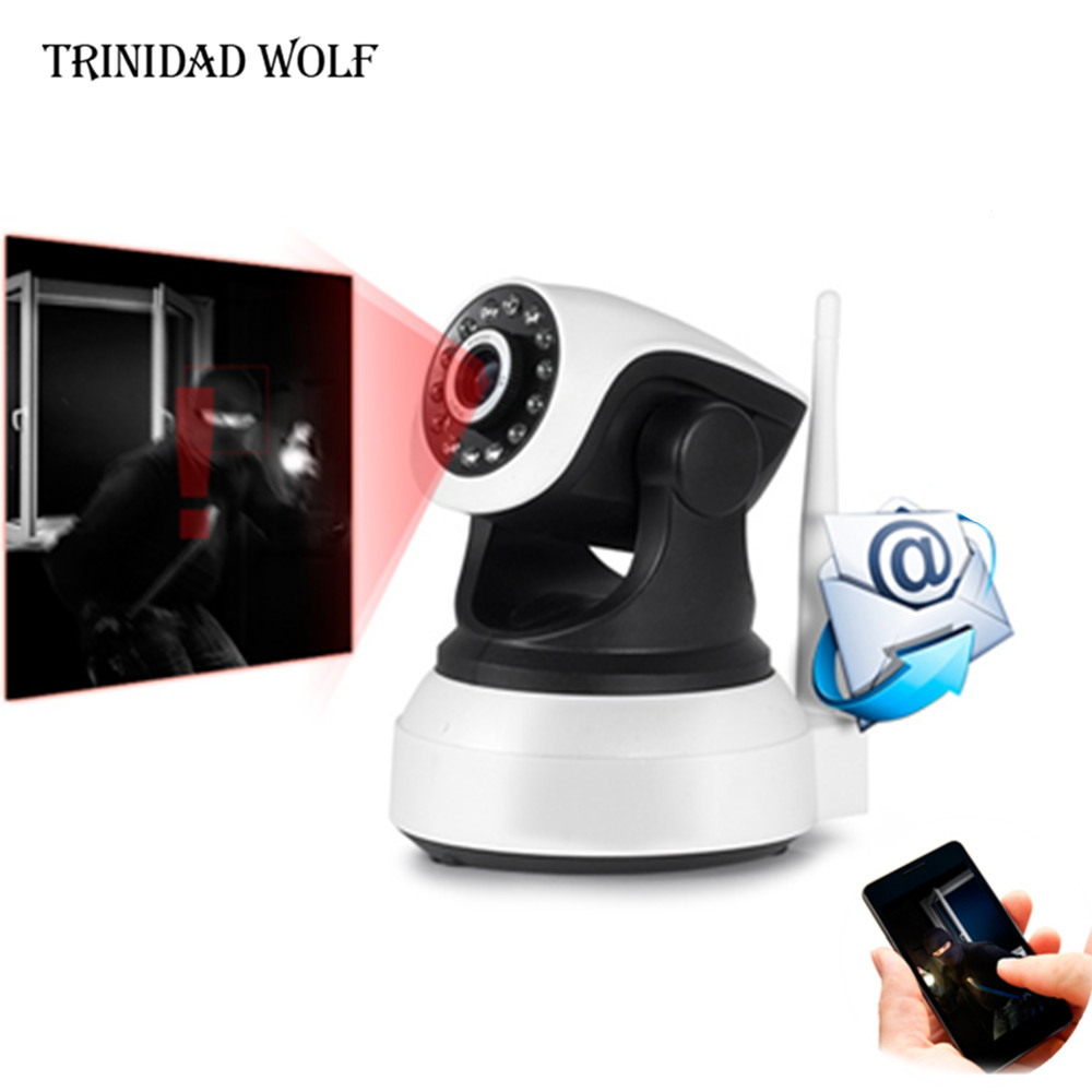 TRINIDAD WOLF Home Security IP Camera Wireless WiFi Camera Surveillance 720P Night Vision CCTV Baby Monitor trinidad wolf solar fake camera security