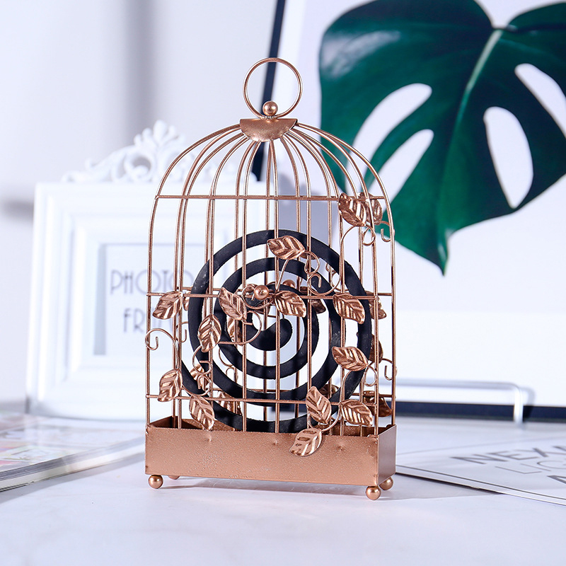 Europe Creative Mosquito Coil Shelf Figurines Model Iron Craft Ornaments Simple Furnishing Articles Decoration Accessories Gifts in Figurines Miniatures from Home Garden