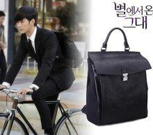 Idol-mochila de viaje para hombre y mujer, bolso de estilo coreano