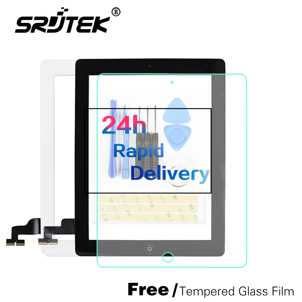 100% tested well Front Glass Replacement with Professional Repair Kit LCD Touch Screen Digitizer For iPad 2 with Tempered Glass tested 15 6 touch screen glass replacement for toshiba satellite e55t e55t a with digitizer free shipping