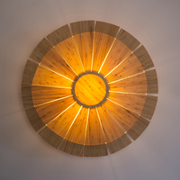 Willlustr Bamboo дерева, настенный светильник бра двери фойе крыльцо Лофт отель Nordic пастырской НЛО Освещение зонтик света