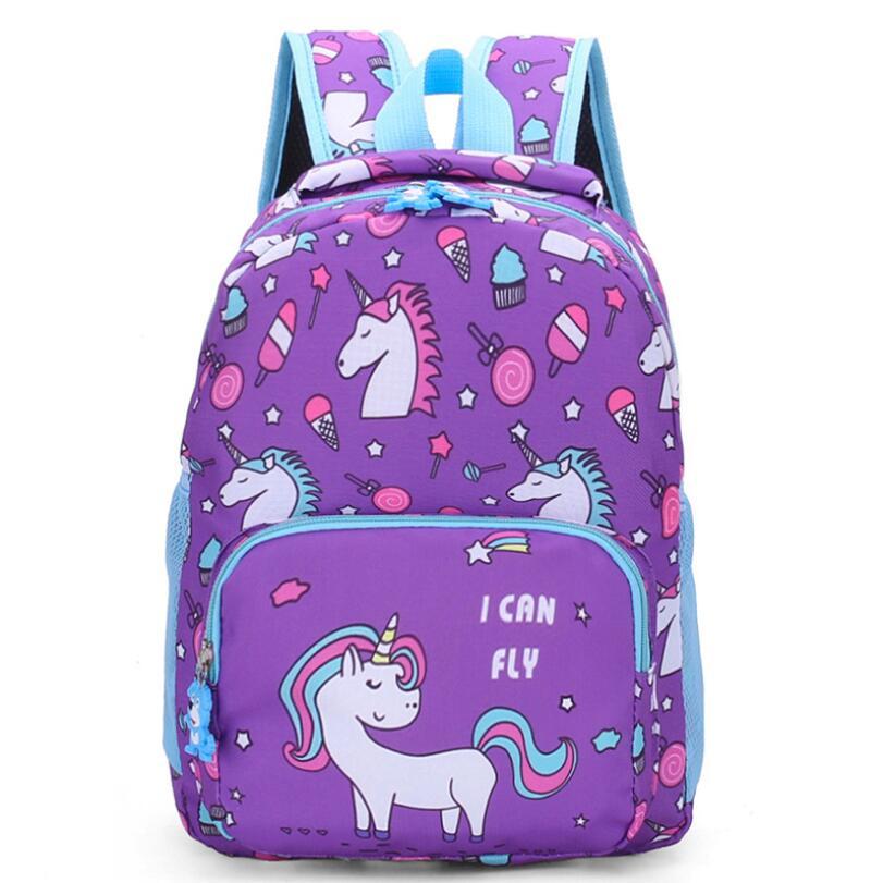 Kids School BagsUnicorn Backpack Schoolbag Waterproof School Bags For Girls Children Pony Backpacks Mochila Escolar