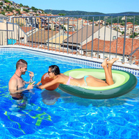 Adult inflatable swimming ring floating swimming pool mattress giant avocado summer seaside beach